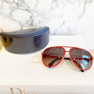 Alexander McQueen RED Aviator style sunglasses